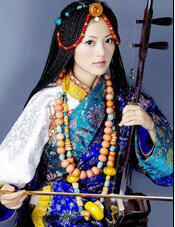 A Tibetan according to the Chinese gov't. Click for description of Tibetans.