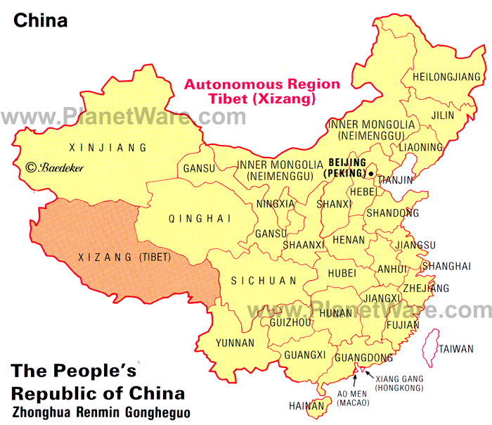 China-autonomous-region-tibet-xizang-map