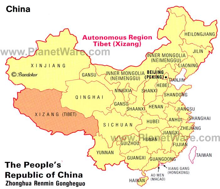 China-autonomous-region-tibet-xizang-map