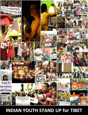 SFT-India members in actions for Tibet