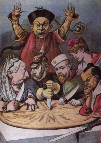 """""""Western-Imperialism"""" propaganda art-wrok"""