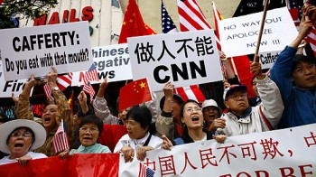 Anti-CNN protest by Chinese Nationalists during 2008