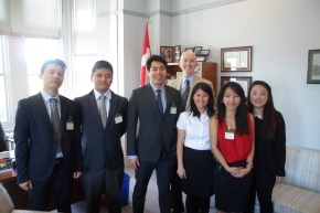 The 2013 PFT Internship Program Interns with MP David Sweet, Chair of the Parliamentary Friends of Tibet