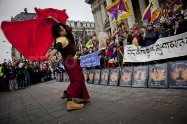 Tibetan National Uprising, Brussels, 10/03/2012.
