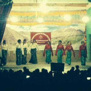 Performing to Phurbu T. Namgyal's