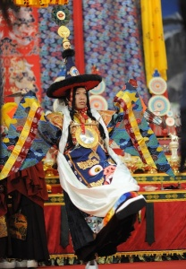 HH Karmapa performing Cham