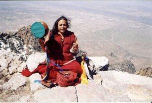 Tibetan Yogini practicing Chod